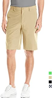 Lesmart Men's Golf Shorts Plaid Khaki Stretch Tall Tech Light Relaxed Dry Fit Twill