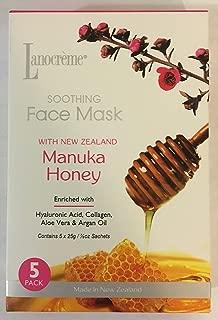 Lanocreme Soothing Face Mask (5) Pack Manuka Honey New Zealand