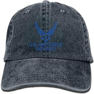 0fe0ca085b0 DeReneletrc Unisex Us Air Force Retired USAF Low Profile Plain Baseball Cap  Vintage Washed Adjustable Dad