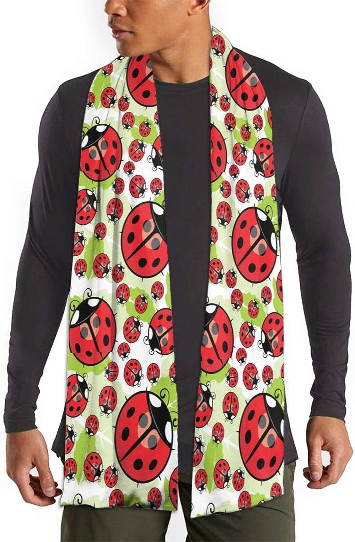 Womens Winter Scarf Funny Green Ladybug Wraps Warm Pashmina Shawls Gift Reversible Soft For Girls