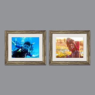 ArtzFolio Wall & Table Photo Frame D523 Antique Golden 8x10inch;Set of 2 PCS with Mount