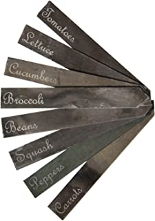 FirTree Brand Slate Garden Plant Markers. Set of 8 Etched Garden Labels for The Vegetable or Herb Garden. Made in The USA of Reclaimed New England Roofing Slate.(Vegetables)