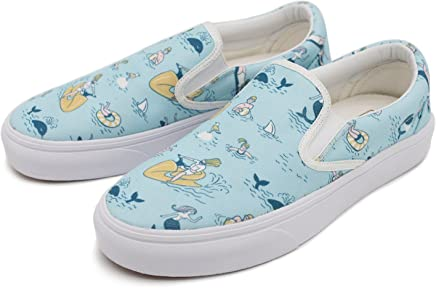 67a7dfa6796 cozyshoeson Surfing Hawaii Beach Waves Surfboard Womens Canvas Slip-On Shoes  Sneaker White