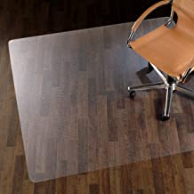 etm® Chair Mat for Hard Floors - 90 x 120 cm (3' x 4') | Over 10 Sizes Available | 100% Pure Polycarbonate, No-Recycling Material - Transparent, High Impact Strength
