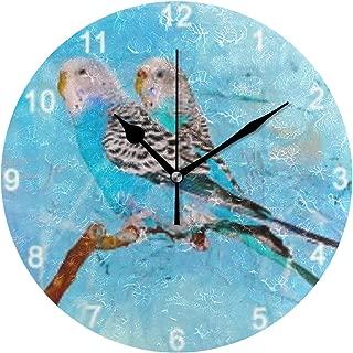 MIKA 掛け時計 置時計 掛け置き両用 壁掛け 時計 音がしない 掛置兼用 連続秒針 おしゃれ プレゼント 結婚祝い 内祝い 誕生日 新築祝い 動物 鳥 緑 黄緑