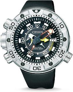 Citizen - Promaster Marine - Eco-Drive Aqualand - Reloj de Cuarzo para Hombre, con Correa de Goma, Color Negro