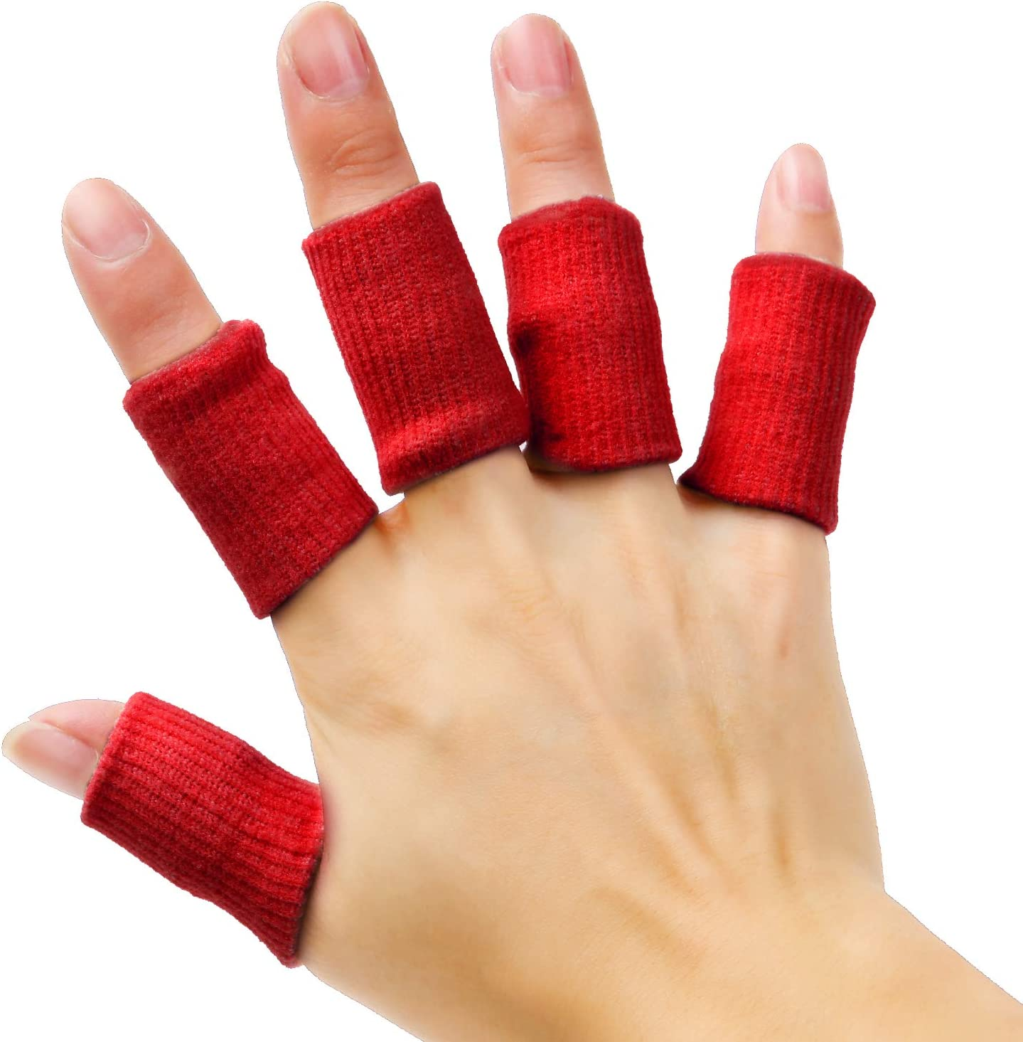 Senkary 20 Pieces Finger Sleeves Brace Ranking TOP6 Support Thumb Protectors Soldering
