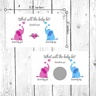 It's A Boy/Girl Gender Reveal Scratch Off Cards | Gender Reveal Party Scratch Offs | Gender Reveal Games Party Favors | Baby Shower | Gender Announcement Cards to Mail or hand out (It's A Girl- Pink)