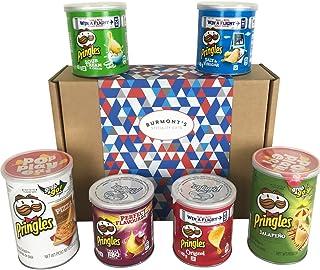 Caja De Regalo Con La Cesta Con La Selección Definitiva De Patatas Fritas - Pringles Incluye Pizza, Texas BBQ, Jalapeño Y Más - Cesta Exclusiva Para Burmont's