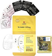 Leaders Wrinkle Collagen Lifting Mild Cotton Face Mask | Anti-Aging & Reduce Fine lines | Top Dermatologist Recommended Skin Care, 5 Sheets