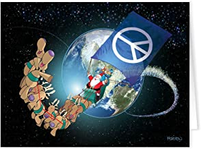 Peace on Earth Christmas Card - 18 Peace Christmas Cards - Earth Cards - World Peace Cards