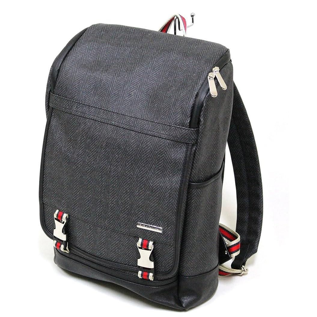 歩道拘束する大宇宙十川鞄 B.C.+ISHUTAL ビーシーイシュタル ガリン スクエア バックパック リュックサック ブラック IGN-13507-BK