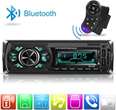Car Stereo Radio Single-Din, Dicoool MP3 Car Radio Bluetooth Player Receiver Support 2USB/TF/MMC/Hand-Free Control, 7 Color Lights