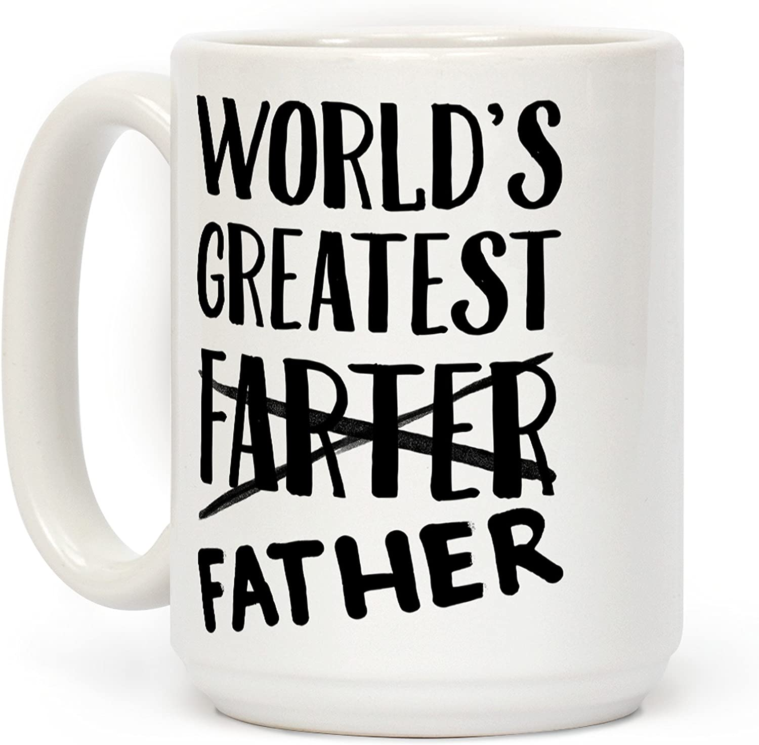 LookHUMAN World's Ranking TOP2 Greatest Farter White OFFicial mail order Ceramic 15 Coffee Ounce