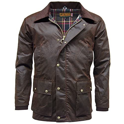 c8bf4f5bd53 Mens Game Barker Wax Jacket with Detachable Hood