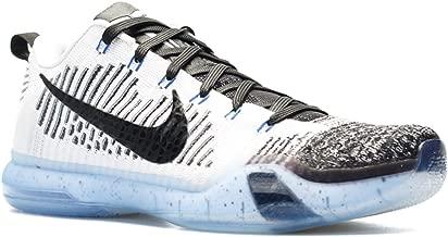 Kobe 10 Elite Low PRM 'Htm Shark Jaw' - 805937-101 - Size 9 White, Black