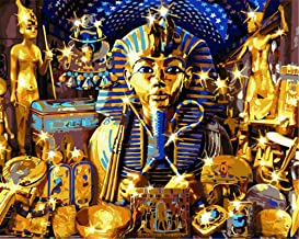 Painting by Numbers DIY Oil Painting for Adult Yellow Pharaoh Canvas Print Wall Art Decoration 40X50Cm