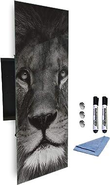 GlassArtist Boîte à clés 80 x 30 cm avec façade en Verre magnétique 633950576