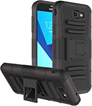 Galaxy J7 2017 Case, Galaxy Halo Case, J7 Prime Case, J7 Perx / J7 Sky Pro Case, Fordesign Stand Shock Absorption Full-Body Rugged Dual Layer Case Cover for Samsung Galaxy J7 V J7V 2017 -Black