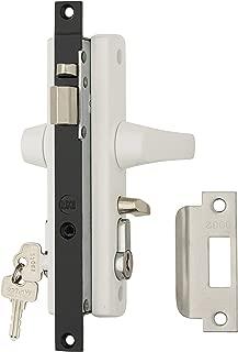 Whitco Security Screen Door Lock W892116 Tasman MK2 White w/Key Cylinder