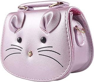 Pinky Family Super Cute Girls Purse Mouse Purse Shoulder Bag Messenger Bag Girls Gifts (Purple)