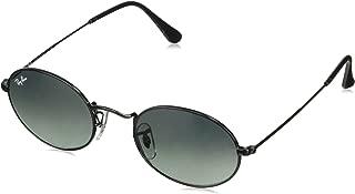 RAY-BAN RB3547N Oval Flat Lenses Sunglasses, Black/Grey Gradient, 51 mm