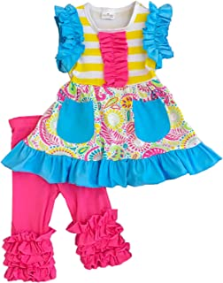 Baby Toddler Little Girls Spring Summer Floral Capri Playwear Sets