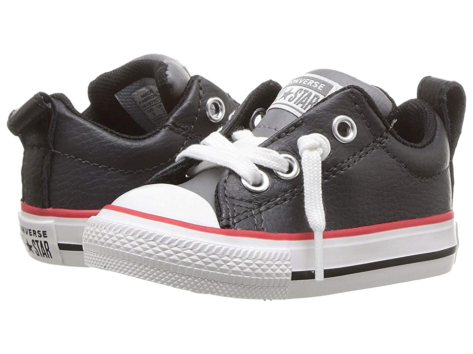 7d8a5677a8d Converse Kids Chuck Taylor All Star Street Slip (Infant Toddler) (Almost  Black