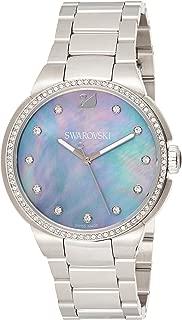 Swarovski Women's 38Mm Steel Bracelet & Case Quartz Mop Dial Analog Watch 5205990, Silver Band