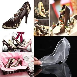 STRIR Tacones de Chocolate Molde, 3D Molde para Chocolate Candy Molde para Zapatos de tacón para Tarta de Boda Decoración DIY, plástico, Transparente