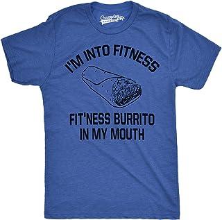 Mens Fitness Burrito Funny Gym T Shirts Sarcasm Mens Humorous T Shirt Novelty Tees