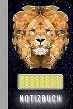 NOTIZBUCH: Polygon-Löwen Notizbuch: Großartiges asymmetrisch linierten Journal - 120 Seiten mit asymmetrische Linien, um N...