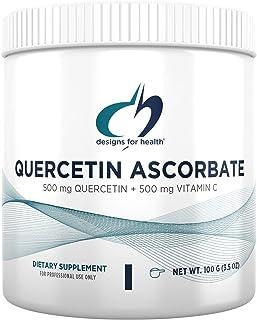 Designs for Health Quercetin-Ascorbate Powder - 500mg Quercetin + Vitamin C Flavonoid Antioxidant Supplement - May Help Su...