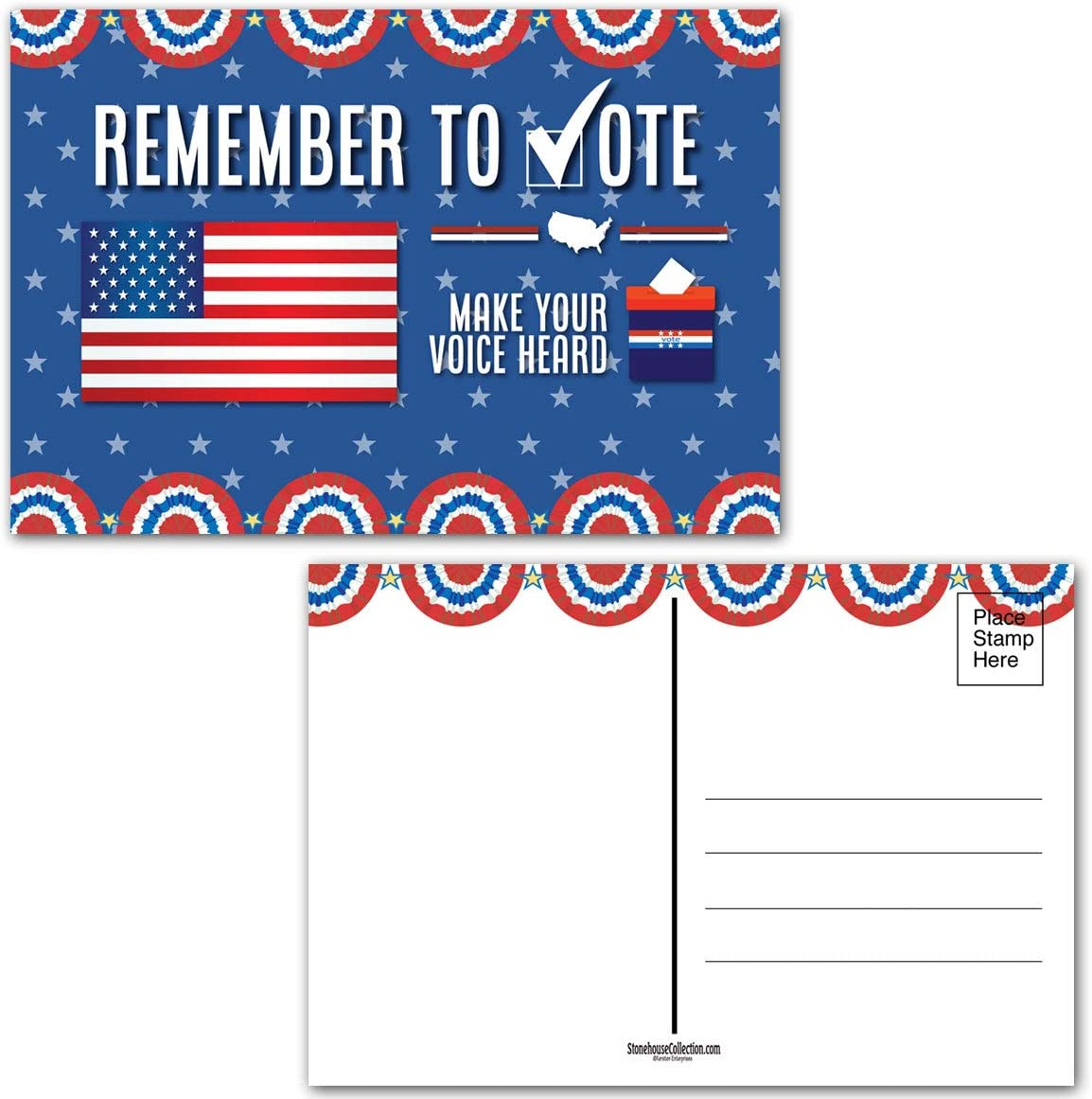 Vote Postcards - 100 Re Voting Blank Pack Japan Maker New Luxury