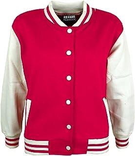 0e9db3613947e A2Z 4 Kids® Enfants Filles Garçons Baseball Veste Varsity Style Mode Plaine  École Vestes Top