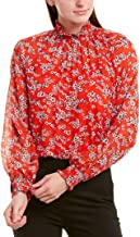 Escada Womens Shirt, 44, Red