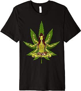 Weed Leaf Shiva Zen Yoga Cannabis Marijuana Meditation Premium T-Shirt