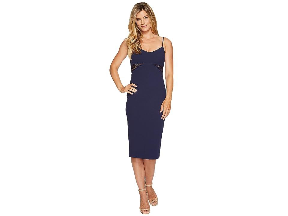 MICHAEL Michael Kors Shirred Panel Strappy Dress (True Navy) Women