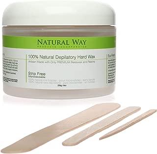 Natural Way 8oz/226g Depilatory Hard Wax *15 Free Combined Applicators/Spatulas
