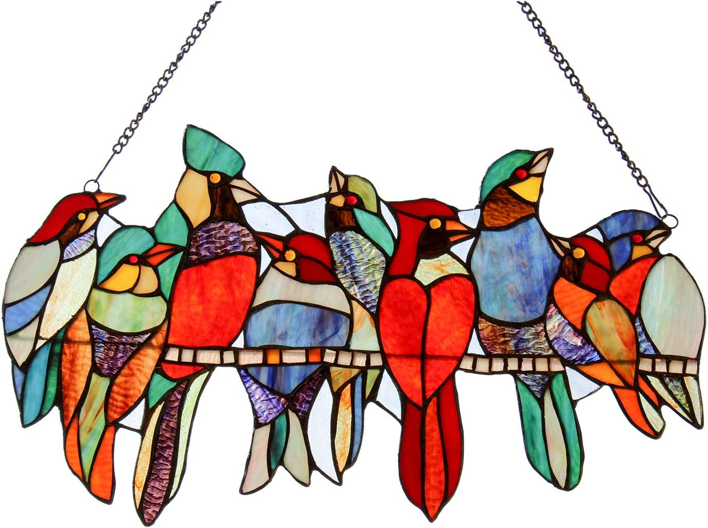 COTOSS Stained Glass Window Hangings 9 Wire Birds on a Suncatche Max 51% OFF Popular brand in the world