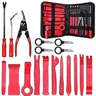 MATCC Trim Removal Tool Set Car Panel Removal Tools Kit 18pcs Nylon for Car Panel Dash Audio...