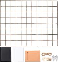 Rosé Gold wandroosterrek, rasterwand, fotowand, fotowand, decoratie, fotopapier, memoboard ophangen, wandbehang, metalen r...