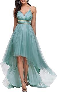 Ever-Pretty Women's Spaghetti V Neck A-line High-Low Party Dress Long Evening Dress 0212