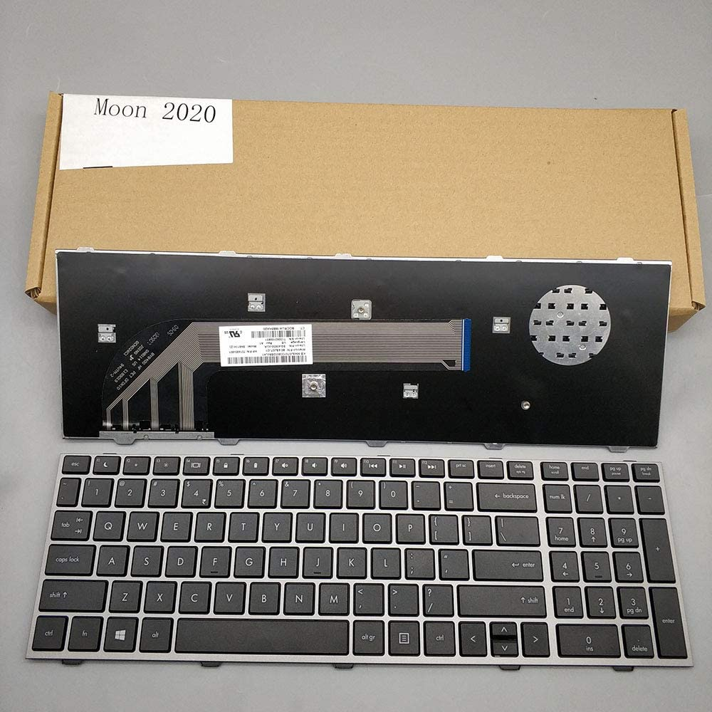 Moon2020 New Laptop Keyboard with Frame HP 100% quality warranty! 454 free shipping for ProBook 4540s