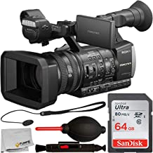 Sony HXR-NX3/1 NXCAM Professional Handheld Camcorder with Starter Accessory Bundle – Includes: SanDisk Ultra 64GB SDXC Memory Card, Lens Cap Keeper, Lens Cleaning Pen, Dust Blower & More