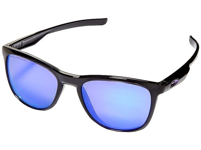 Oakley Trillbe X (Matte Black Ink/Violet Iridium Polarized) Fashion Sunglasses