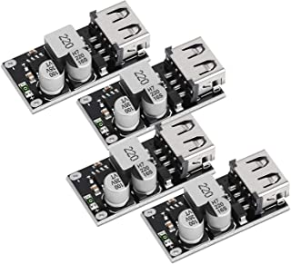 USB Buck Converter, DROK 4pcs DC-DC Step Down Module 6-32V 12V 24V to 5V QC 3.0 Charging Module Power Supply Voltage Regul...
