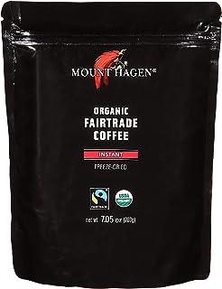 Mount Hagen 7.05 oz Organic Fair Trade Freeze Dried Instant Coffee Bulk Resealable Doypack Bag, Kosher Award-winning Singl...