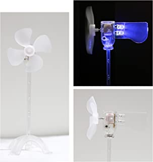 Smallest LED Windmill, Wind Power Experimental Model, Suitable for Energy Conservation Educational Experiment, Cultivate Free Research and Imagination, Used as Fun Toy or Ornament (Pure Blue)