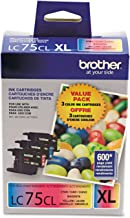 Brother Genuine High Yield Color Ink Cartridge, LC753PKS, Replacement 3 Pack Color Ink, Includes 1 Cartridge Each of Cyan,...